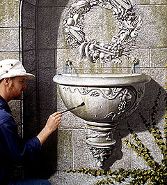 Trompe l'Oeil Fountain - photo by Shared Vision