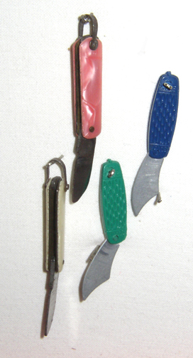 Knife charms frrom the 1950s