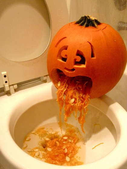pumpkins puking
