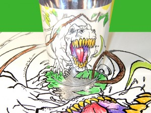 Morph-O-Scopes Distorted Dinos Packet  - 1. T Rex charging right at you