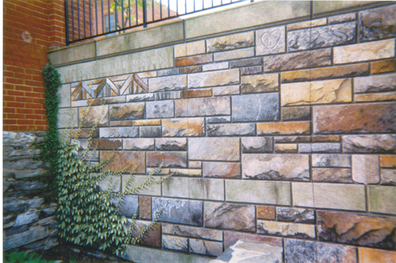 Trompe l'Oeil Stones and Ivy - Photo by Myrna Hoffman