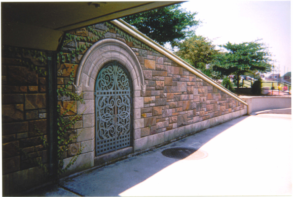 Trompe l'Oeil Gate - Photo by Myrna Hoffman