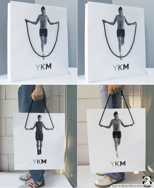 Shopping bag - jump rope