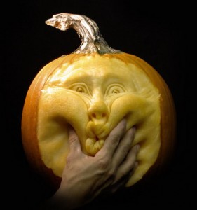 Pumpkin carving by Ray Villafane