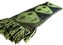 Shadow- knit aliens scarf