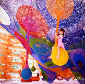 Crocheted play space, Sapporo, Japan