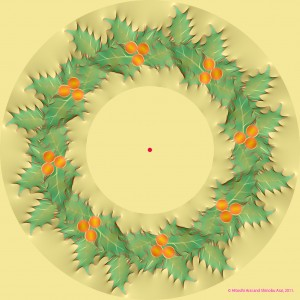 Wreath Motion Illusion by Hitoshi Arai and Shinobu Arai
