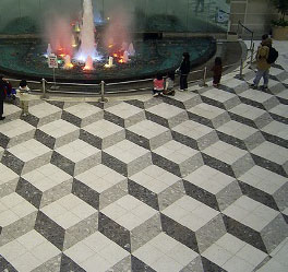 Optical Illusion Floor seen in Japan