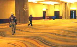 Optical Illusion carpet - Marriott Solana – in Southlake, Texas
