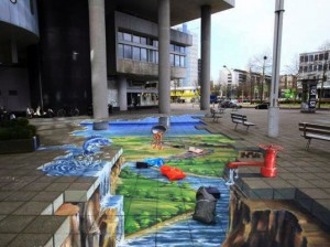 Greenpeace and Planet Streetpainting - Toxic Chemicals in new clothing