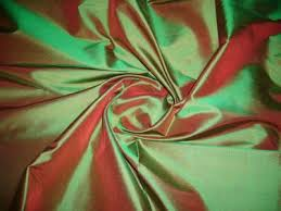 two-toned silk fabric